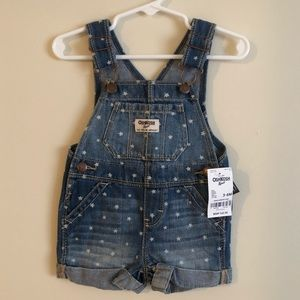 NWT Oshkosh B'gosh Star Short-alls!